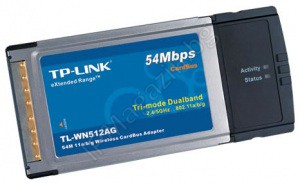 TL-WN512AG, 54M, Wireless. Card Bus, Adapter