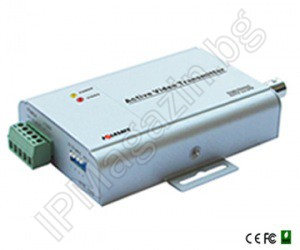 FS-4401S - 1-channel, active, video transmitter, up to 1200m (a system for transmission of video signals on twisted pair)