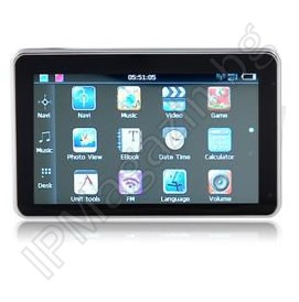 "GPS Navigator, 5 ""Touch Screen, Display, FM Transmitter"