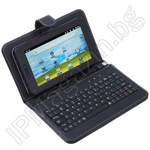 "USB keyboard, 7 ""tablet, PDA, leather case"
