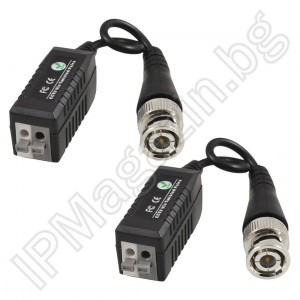 LLT-205 - Video Balun - set 2pcs (a system for transmission of video signals on twisted pair)