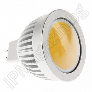 Lamp, fret, 5W, COB, diffused diode, 220V, MR16, warm white