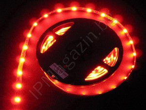 3528-60SMD - LED strip, 1m, red light, waterproof