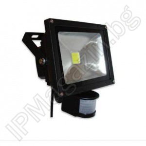 LED Spotlight, 30W, PIR Motion Sensor, Outdoor Mounting