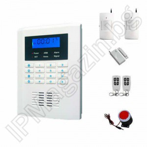 "IP-AP021 - wireless, GSM alarm for home, 2.1 ""LCD display, keyboard, 2 volumetric movement, 1 door MUK, 2 remote"