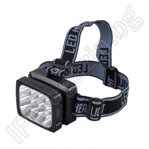 YJ-1837 - rechargeable, LED headlamp, headlamp, 12 diodes, 2 modes of illumination