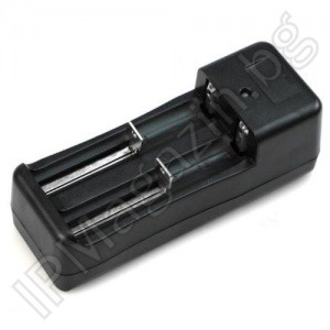 Battery charger for 2 batteries, 18650, 16340, 26650, 14500, Lithium-ion