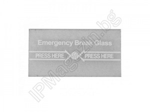 CPK-860-G - Glass for Emergency Button, CPK860