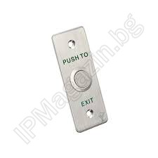 PBK-814A - Exit Button, Stainless Steel, Embedded or Surface Mounting, with Console MBB-811A-M