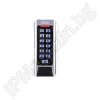 CC1C - 2-4cm, external mounting, touch keypad, backlight independent controller, MIFARE 13.56MHz