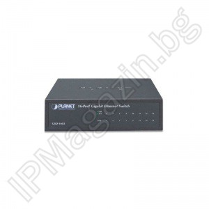 GSD-1603 - 16-портов, Gigabit, Layer 2, комутатор, ETHERNET комутатор