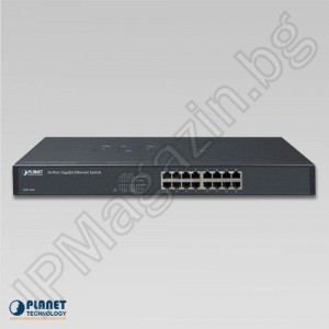 GSW-1601 - 16-Port 10/100/1000Mbps Gigabit Ethernet Switch - ETHERNET комутатор