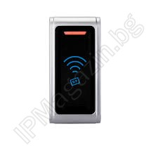 RF006-EM-ID - Wiegand 26, bit interface, 3-8cm, external mounting, non-contact reader, RFID 125kHz