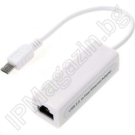 Micro USB 2.0 10/100 Ethernet LAN Adapter RG45